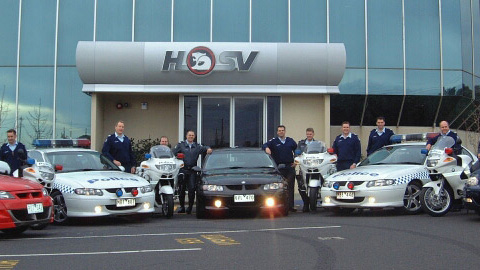 Victorian police visit HSV