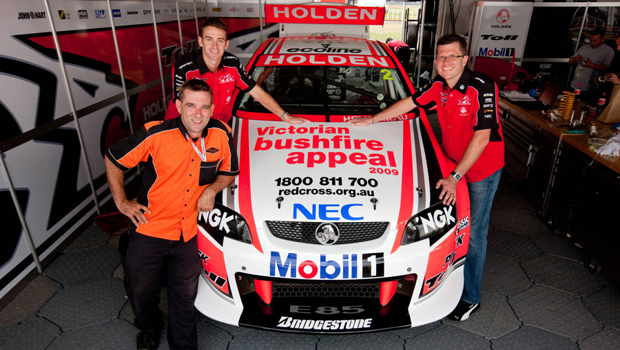 Toll Holden Racing Team duo with Matt Bartlett the special specially commissioned livery