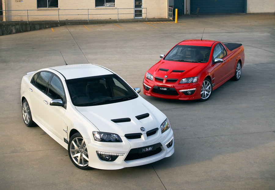 Clubsport GXP (L) and Maloo GXP (R)