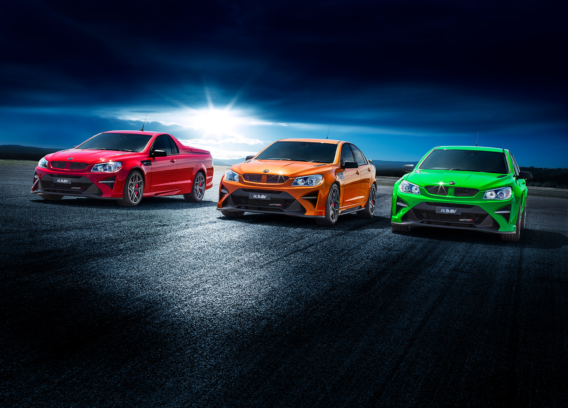 Drawing on its racing heritage, all three vehicles – GTSR (sedan), GTSR Maloo and GTSR W1 - share consistent, track-inspired styling and performance DNA.