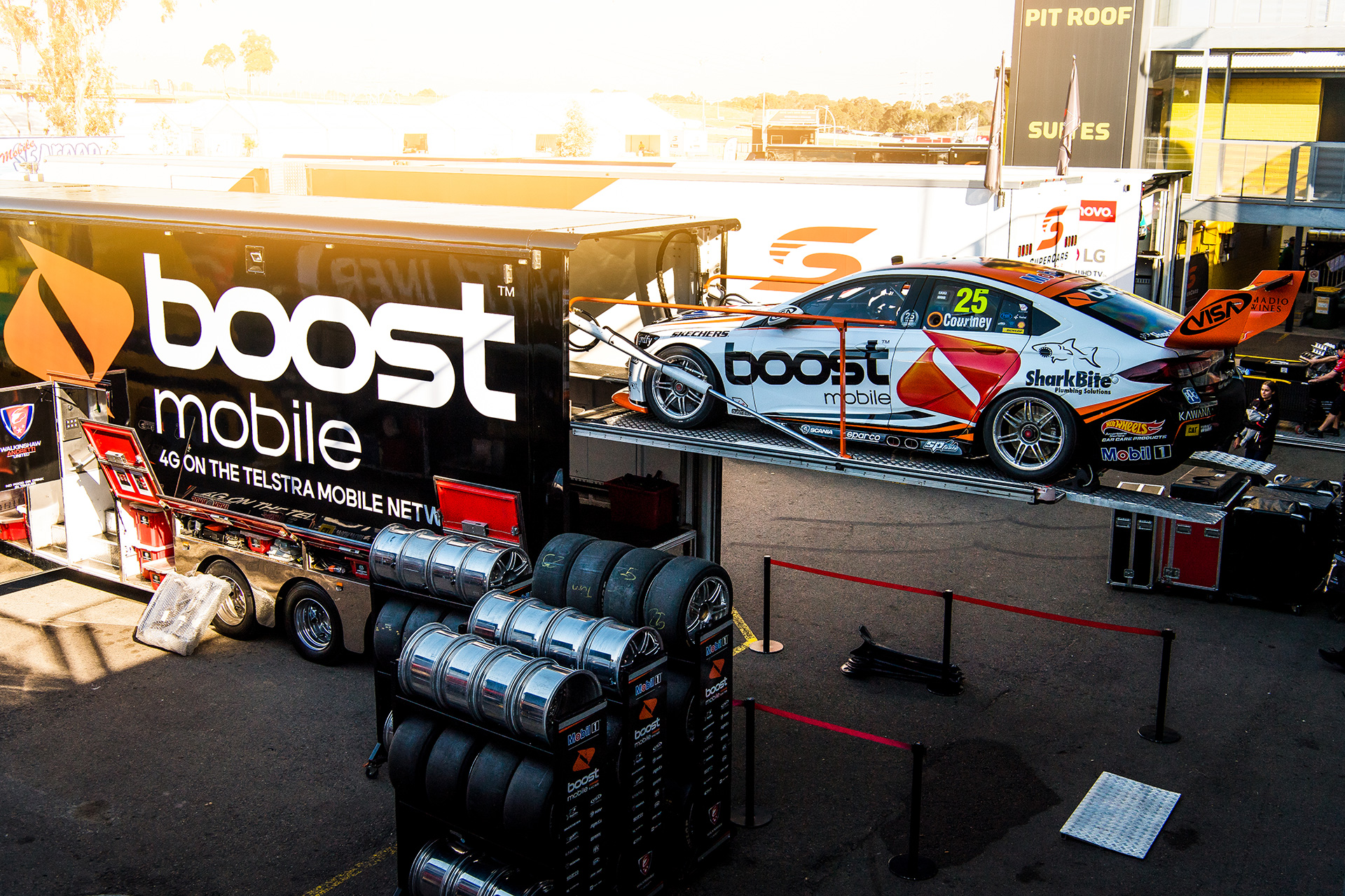 Both cars were in action at the test day.