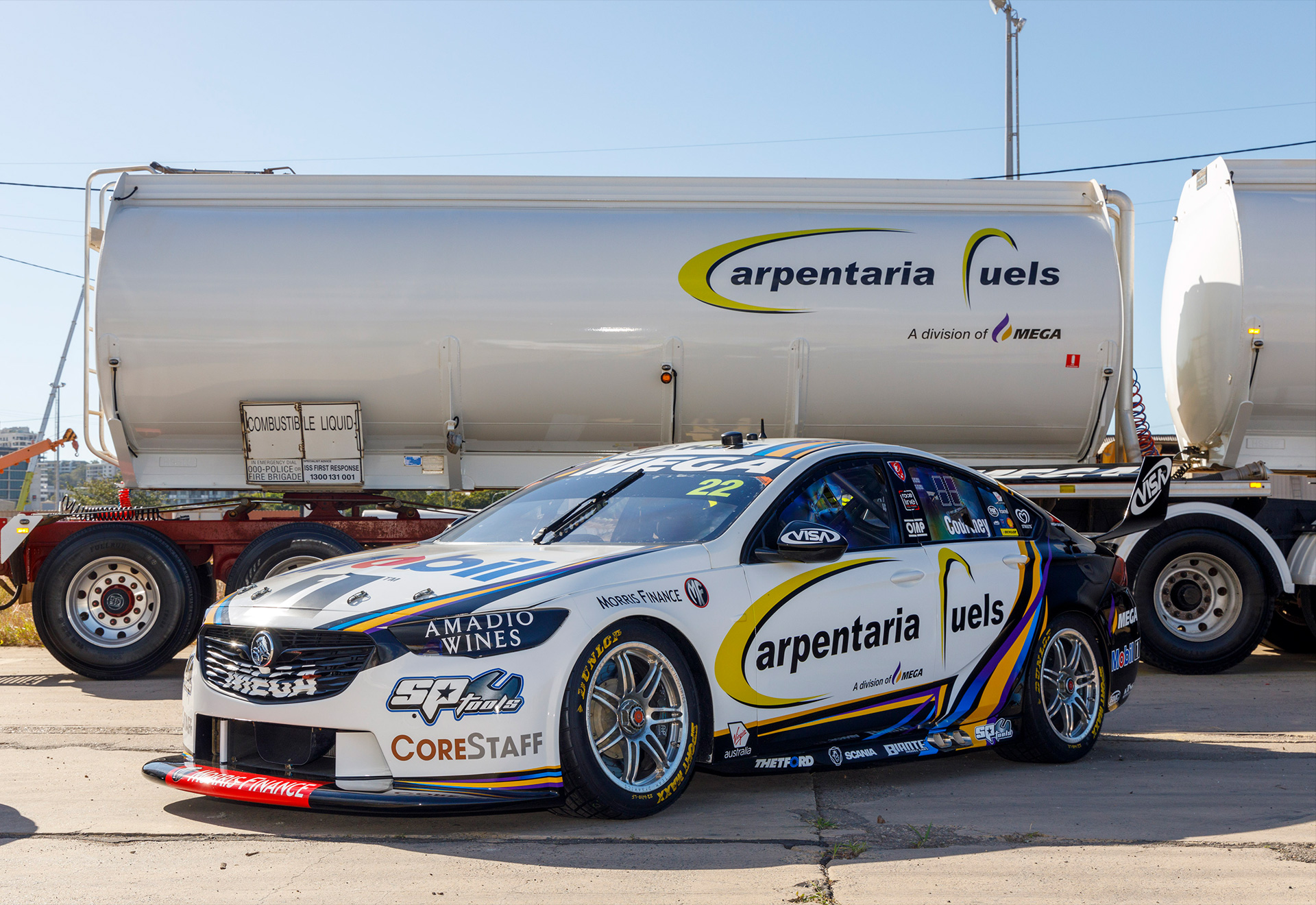 Carpentaria Fuels to take over the major branding position on James Courtney's Car 22.