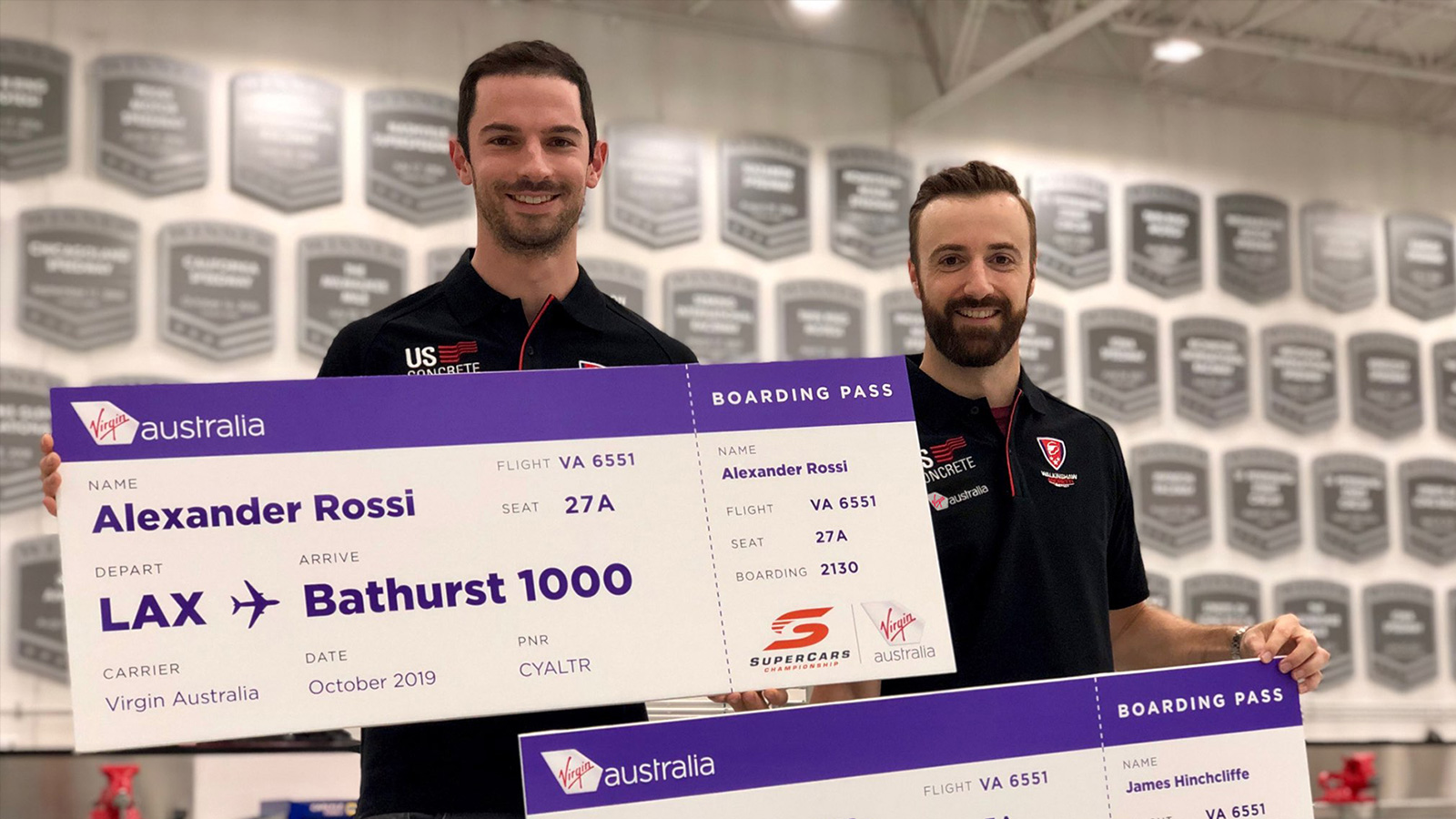 Internationals Rossi and Hinchcliffe to Tackle the Bathurst 1000