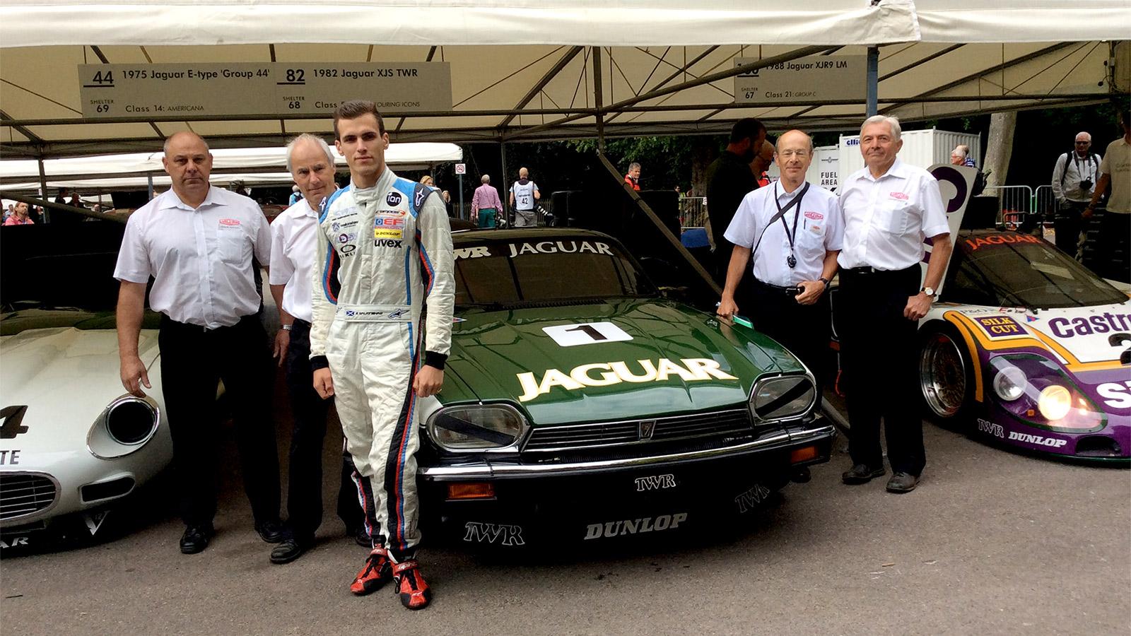 Walkinshaw reunited with TWR Jaguar on emotional Goodwood debut