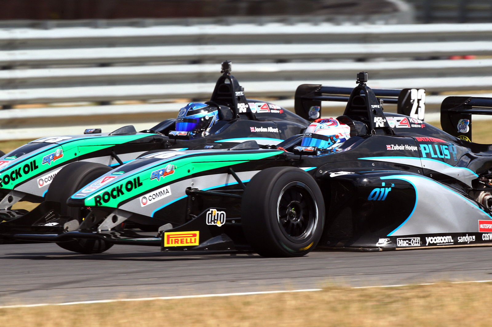 Jordan Albert and Zubair Hoque on track at Snetterton