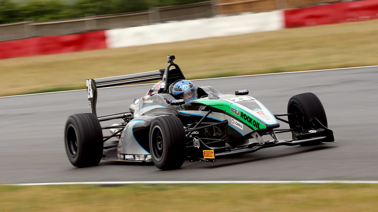 Jordan Albert also secured a brace of top five results during BRDC F4's most recent visit to the GP track last August.