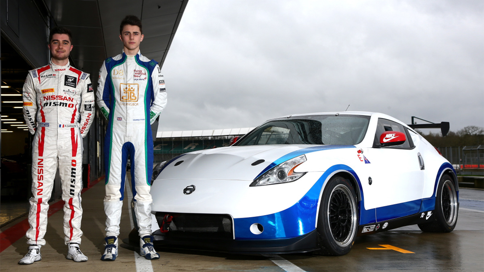Team-mates Fagg and Sarazin relishing first outing together with Nissan 370Z.
