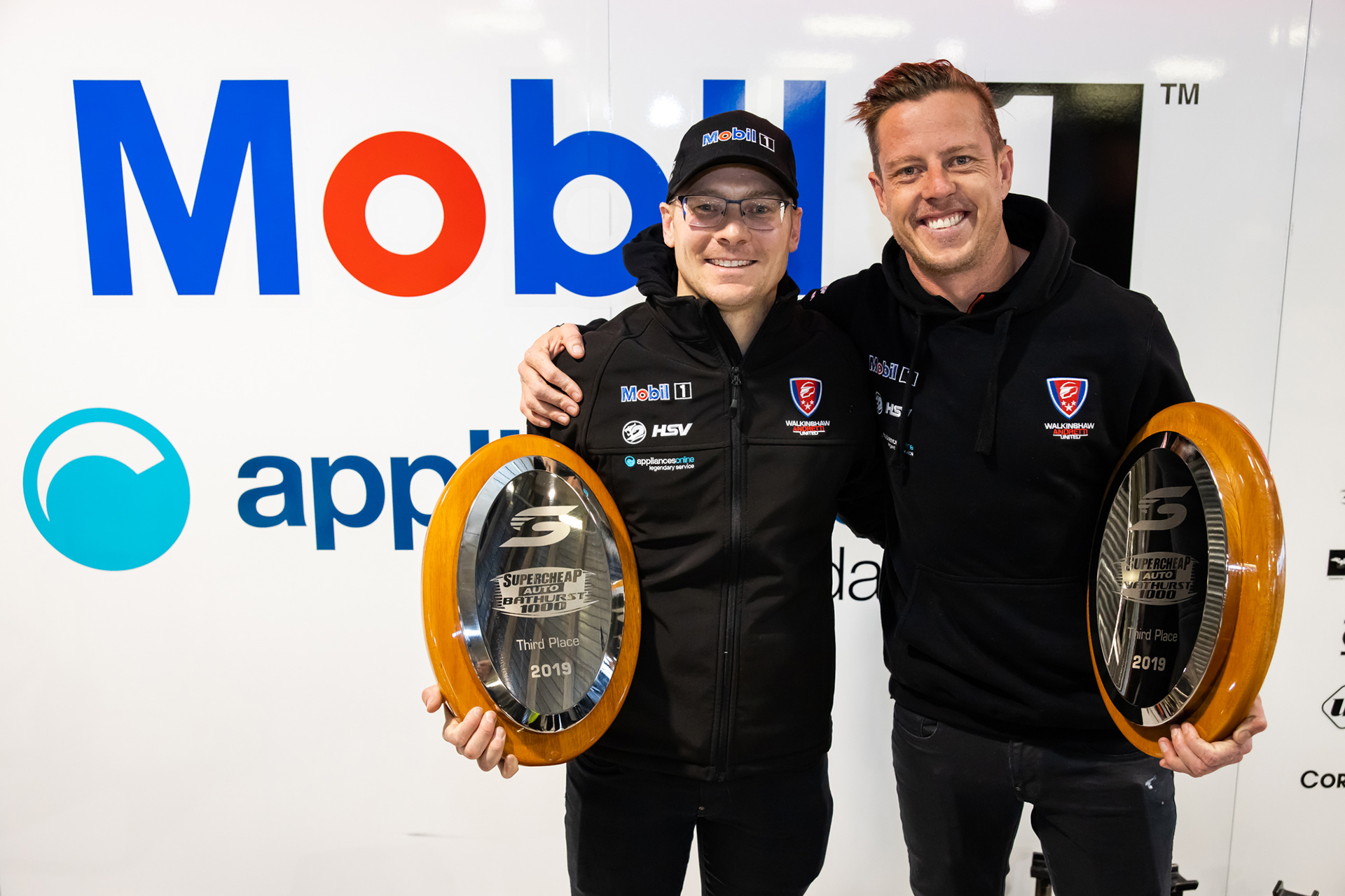JC and Jack share their first Bathurst podium as a partnership.