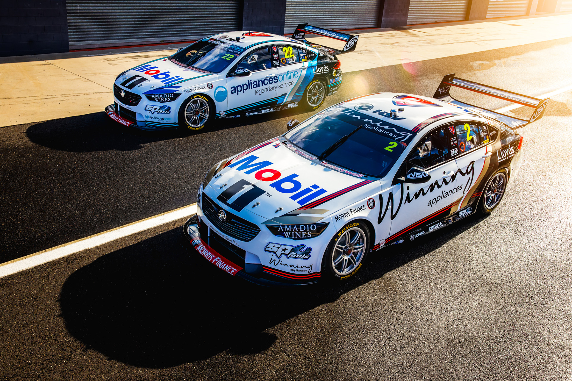 The two new liveries at Bathurst.