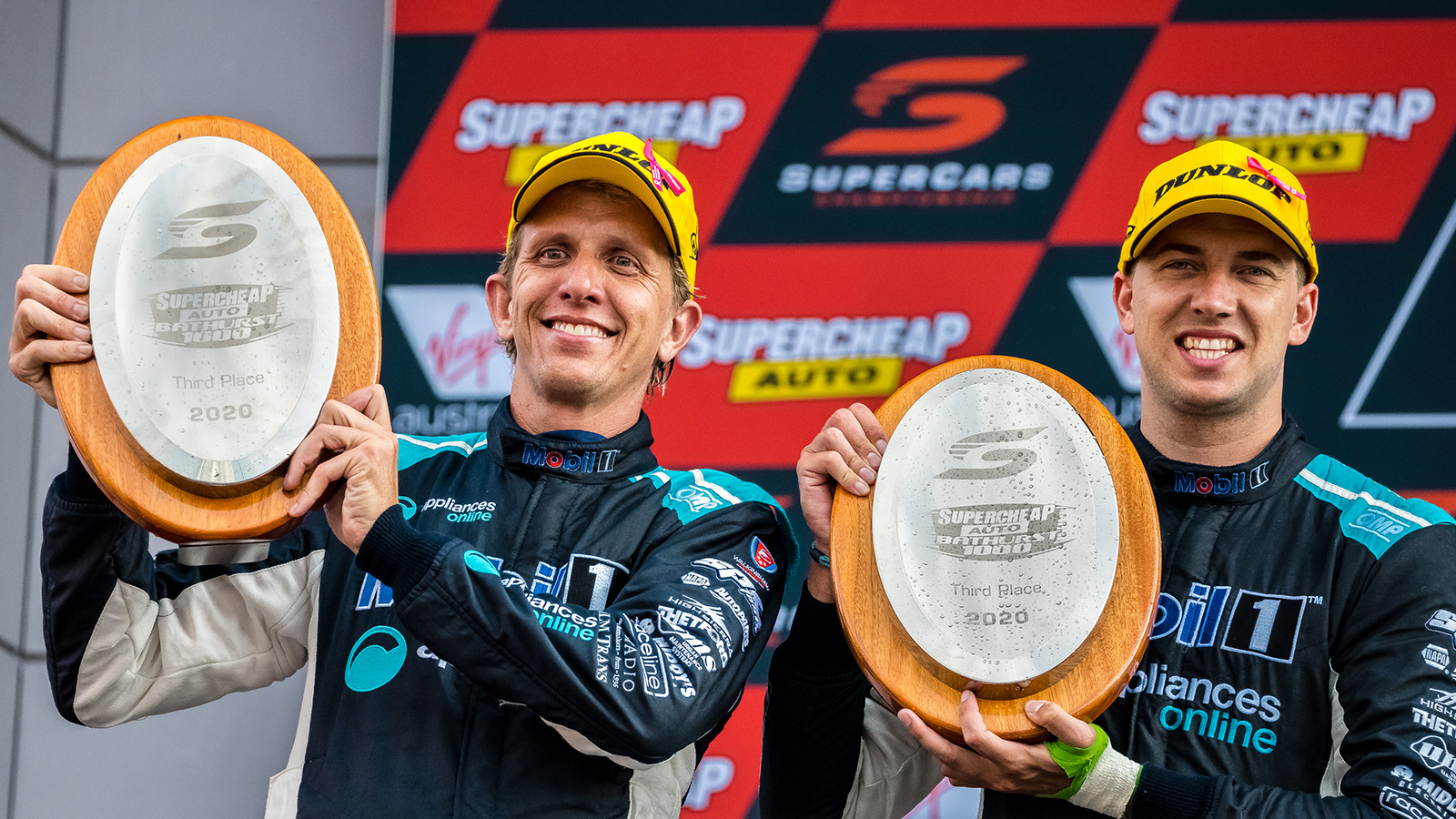 Chaz Mostert (R) and Warren Luff (L) have capped off the 2020 season with a podium in the biggest race of the year.