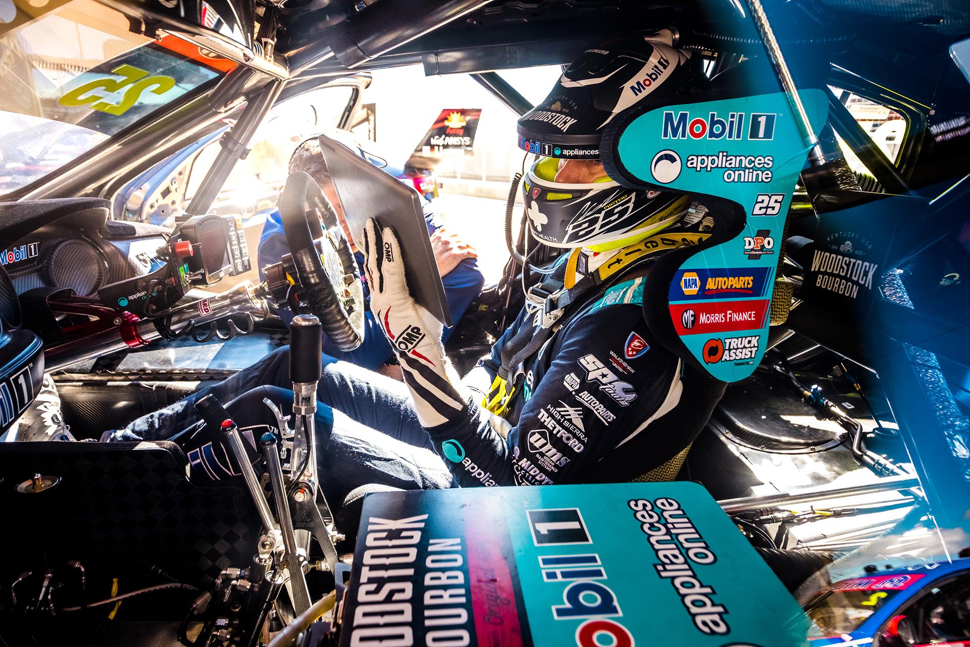 Chaz Mostert inside the Mobil 1 Appliances Online No. 25.