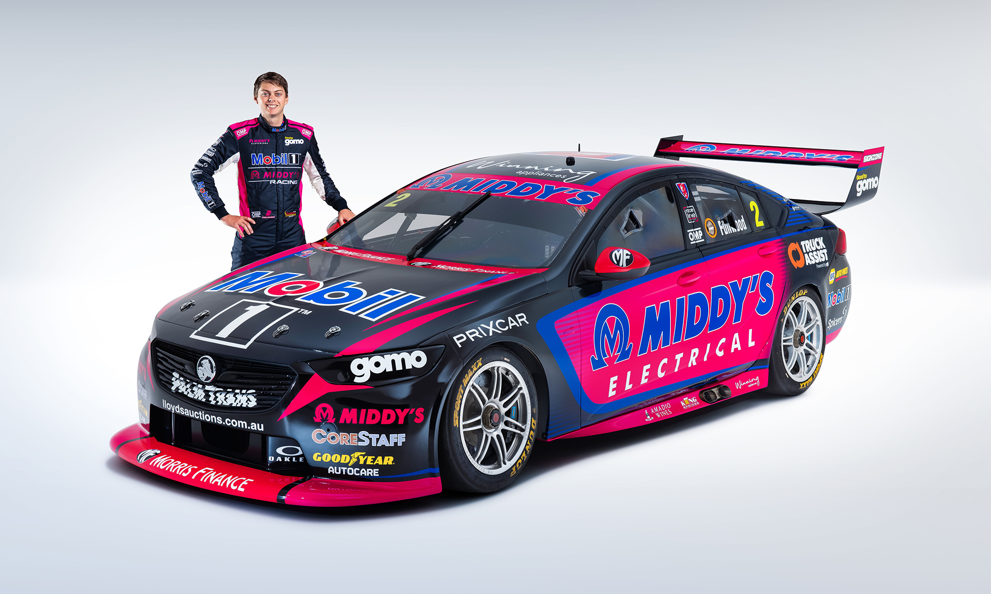 Bryce Fullwood with his new look Mobil 1 Middy's Racing No. 2.